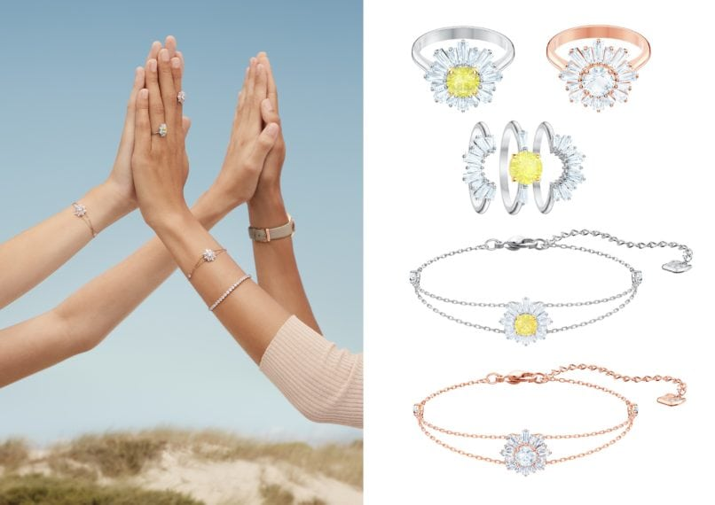 Swarovski Mother's Collection Campaign and jewellery pieces