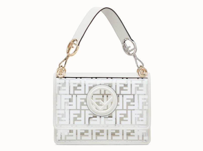 Fendi Bag in PU white see through