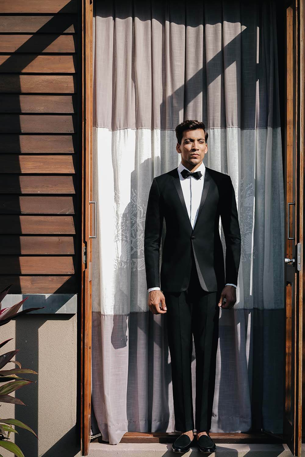 Textured Tuxedo Suit by SS Homme