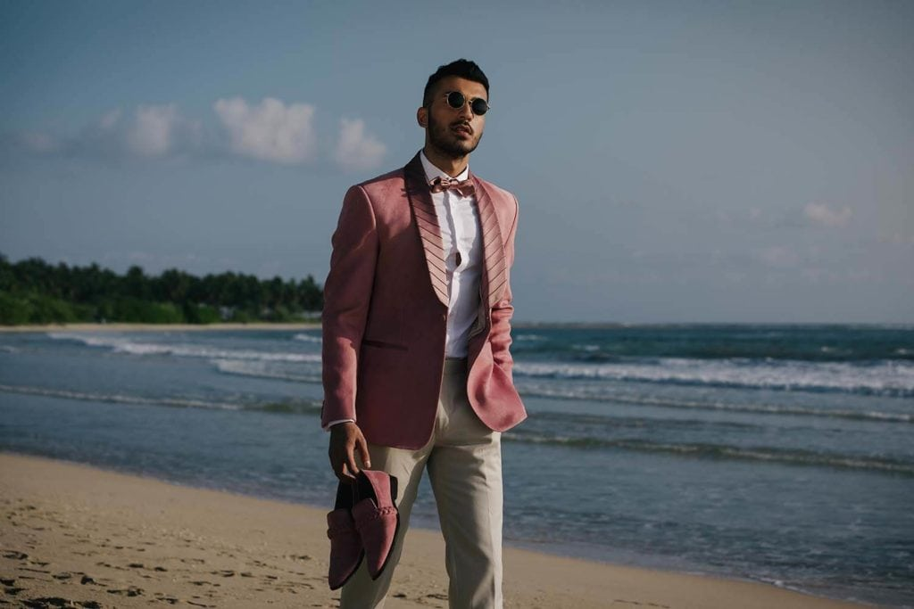 Rose Pink Suede Tuxedo Jacked by SS Homme