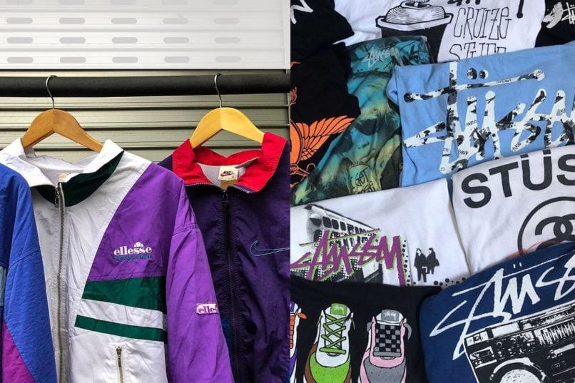Retrogate selection of vintage outerwear and tees