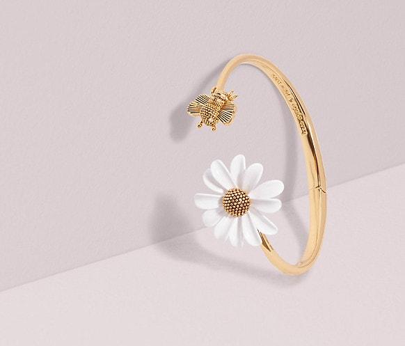 Cuff bracelets: Kate Spade