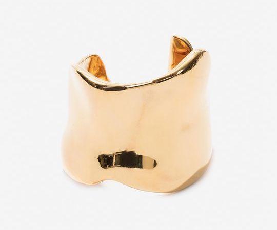 Cuff bracelets: Alexander McQueen