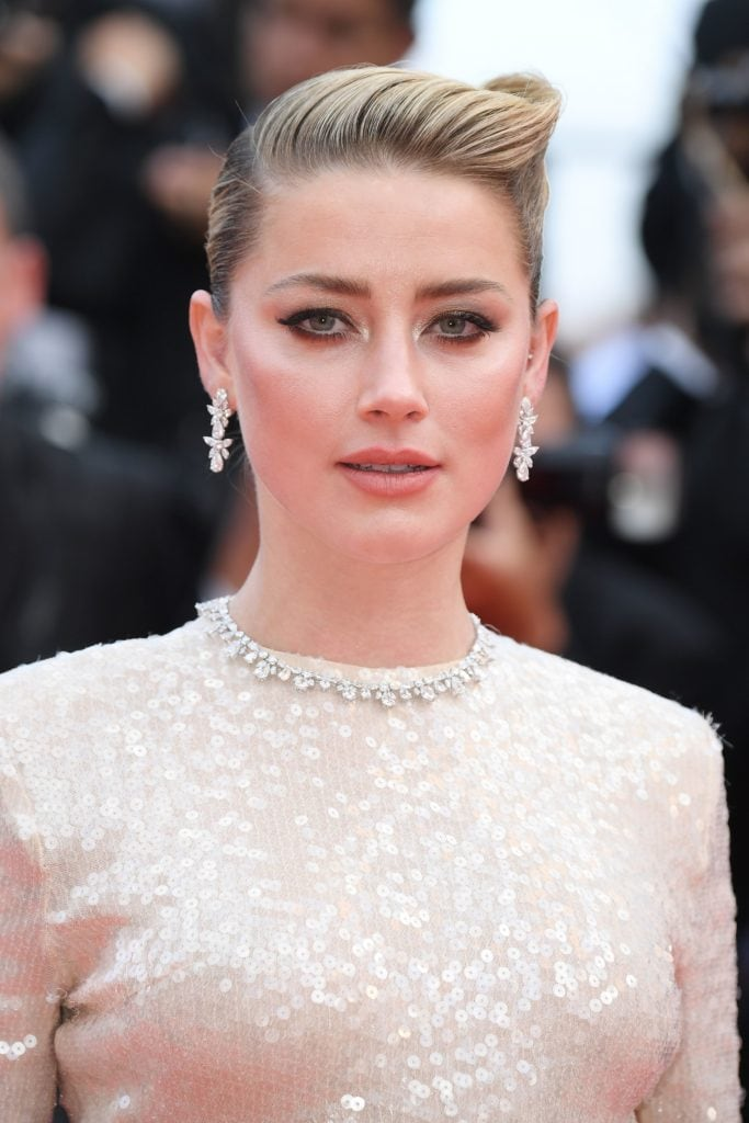 Amber Heard in diamond jewelry by Chopard at the screening of 'Les Miserables'. Image: Courtesy Getty
