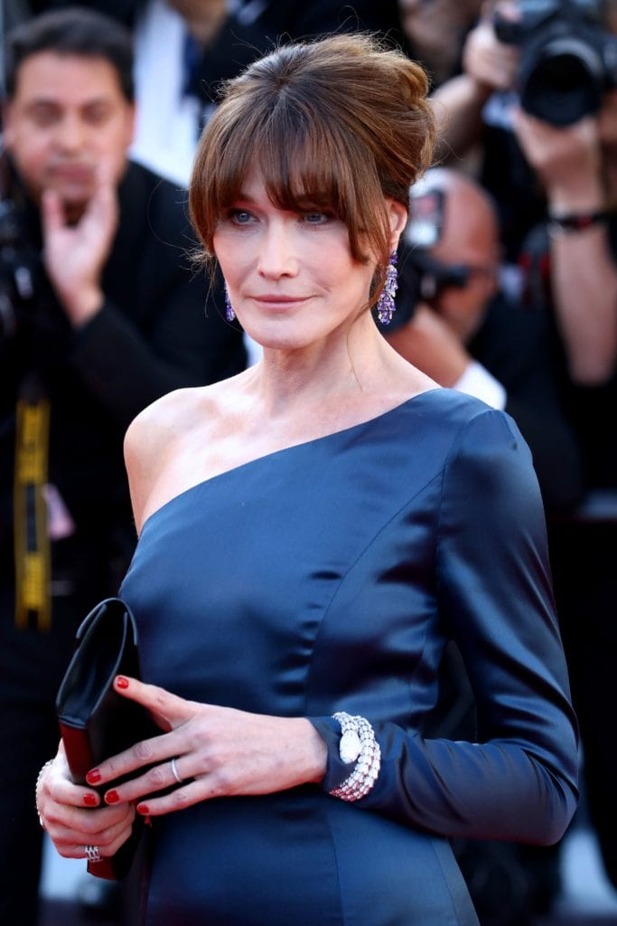Carla Bruni was spotted in exquisite Bulgari jewels. Image: Courtesy Getty