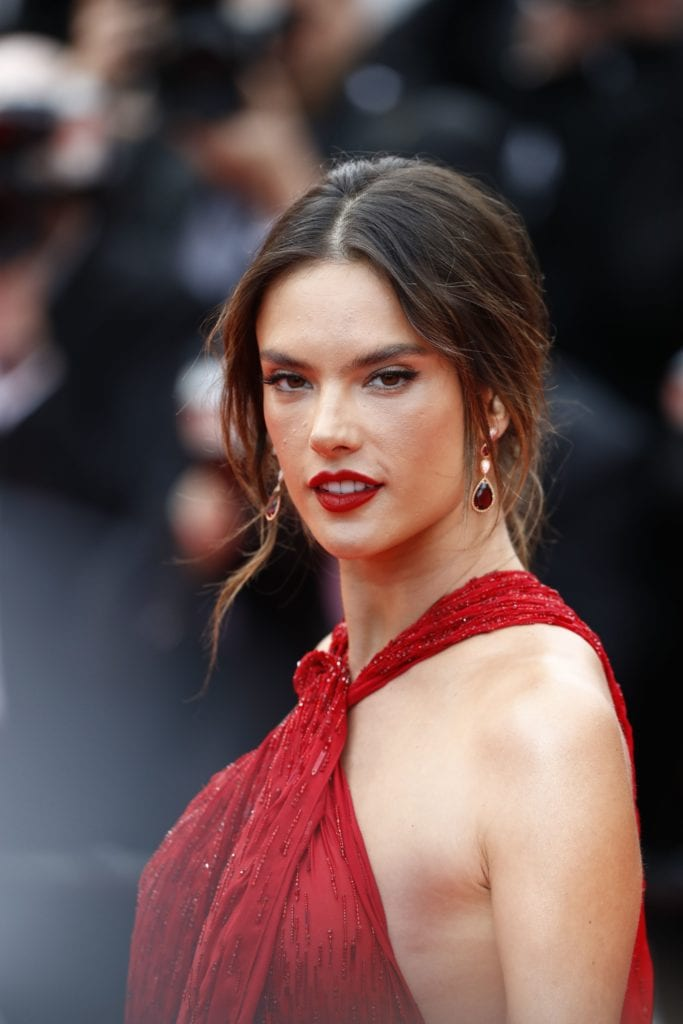 Supermodel Alessandra Ambrosio wearing Boucheron earrings and cuff. Image: Courtesy Getty