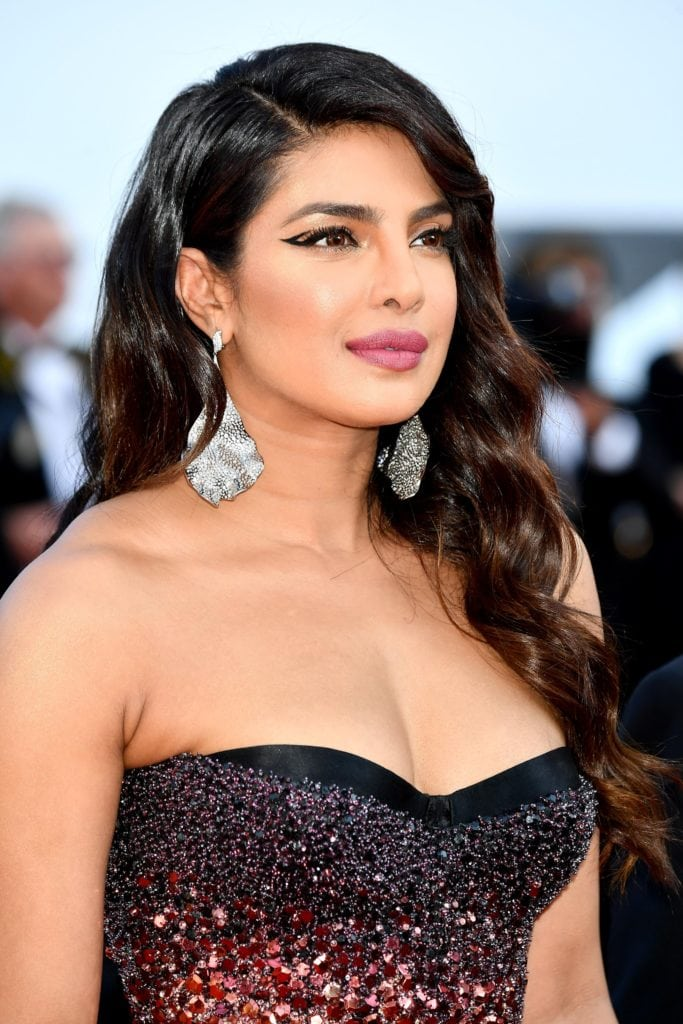 Priyanka Chopra in Chopard earrings. Image: Courtesy Getty