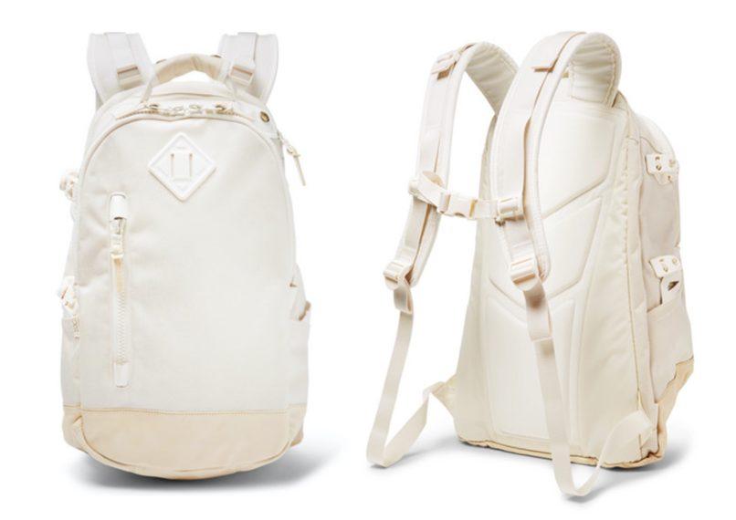 Visvim leather-trimmed Cordura backpack