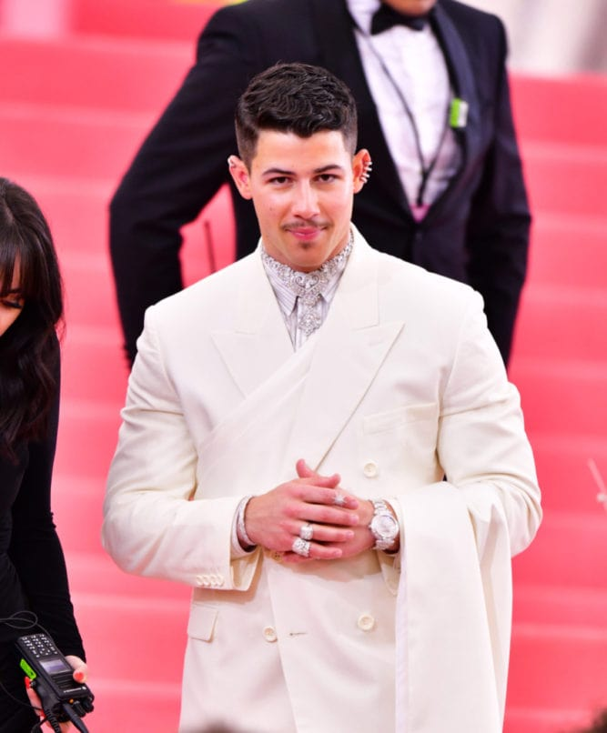 Nick Jonas at the Met Ball 2019 wearing pieces by jewellery designer Payal Shah. Image: Courtesy Payal Shah