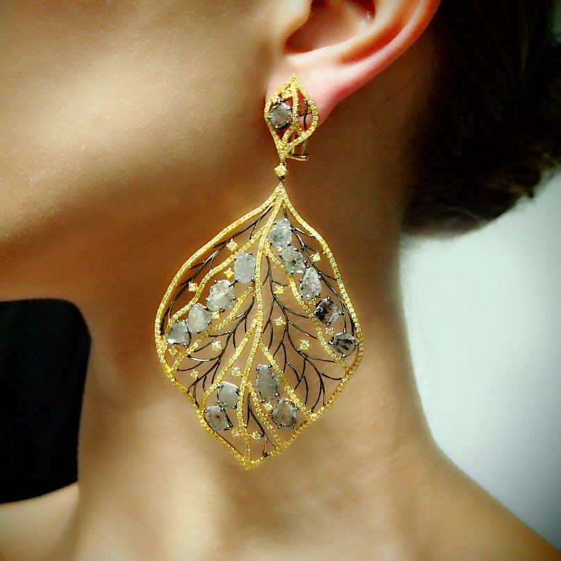 Earrings by jewellery designer Payal Shah. Image: Courtesy Payal Shah