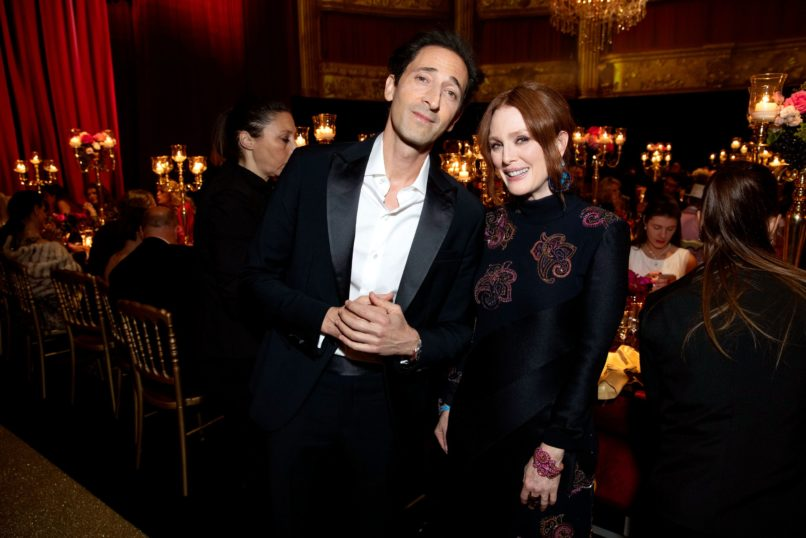 Adrian Brody and Julianne Mooreat Chopard LOVE Night. Image: Courtesy Chopard