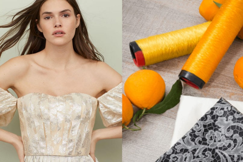 Off shoulders top from H&M Conscious 2019 collection and Orange Fiber fabric