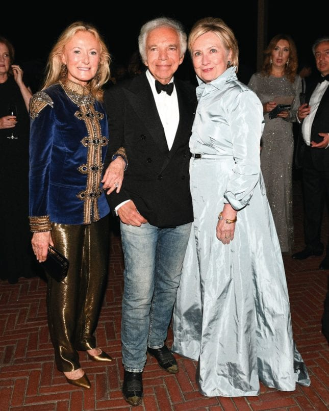 Ricky and Ralph Lauren with Hillary Clinton. Image: Courtesy Ralph Lauren
