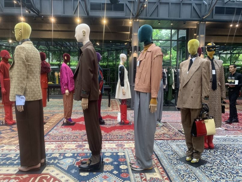 Gucci FW19 runway looks presented at the Glass House in Nai Lert Park.