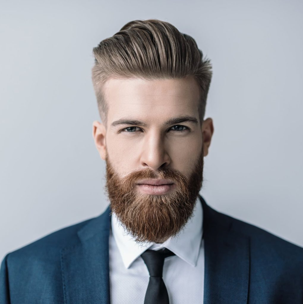 The slicked-back connected undercut