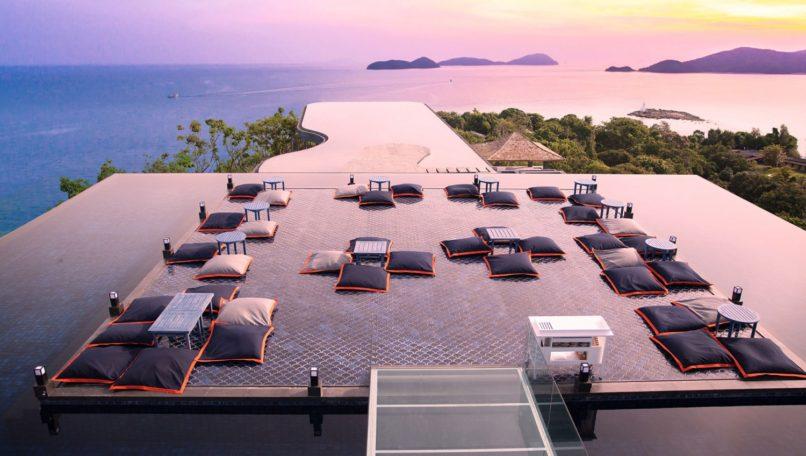 Baba Nest rooftop bar at Sri Panwa Phuket luxury beach resort.