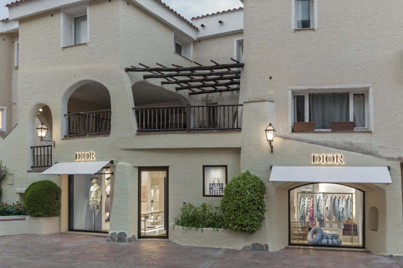 Dior Pop up store in Porto Cervo, Sardinia, Italy