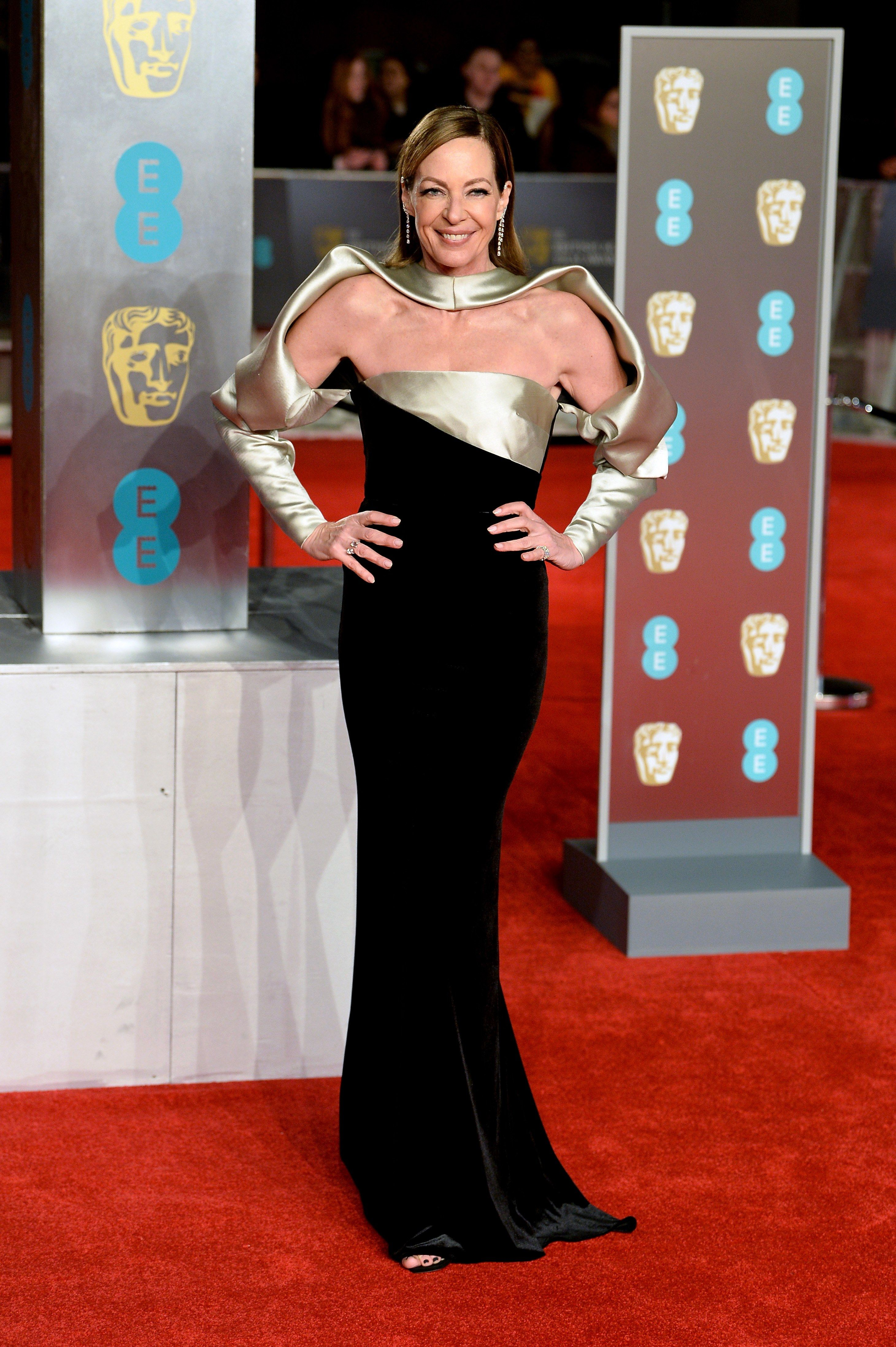 Allison Janney in Bibhu Mohapatra at BAFTA 2019. Image: Courtesy Getty