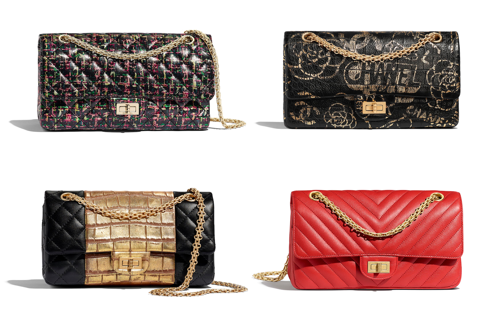 The latest Chanel 2.55 bag styles