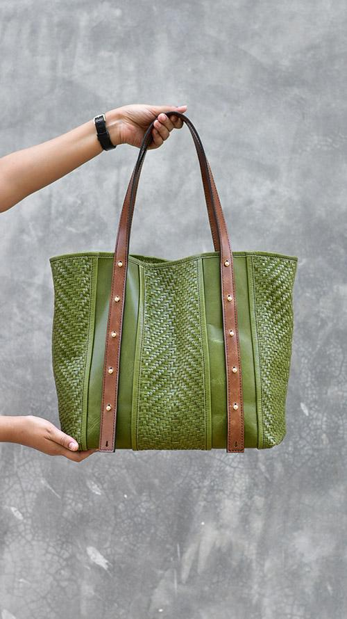 All Woven Olive Jamie by Chiaroscuro