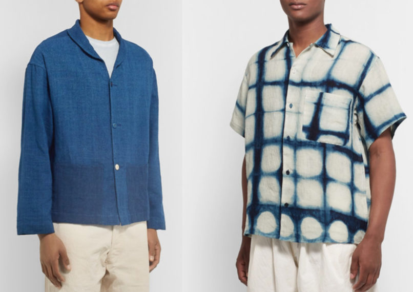 Story MFG. indigo dyed organic cotton jacket and linen shirt