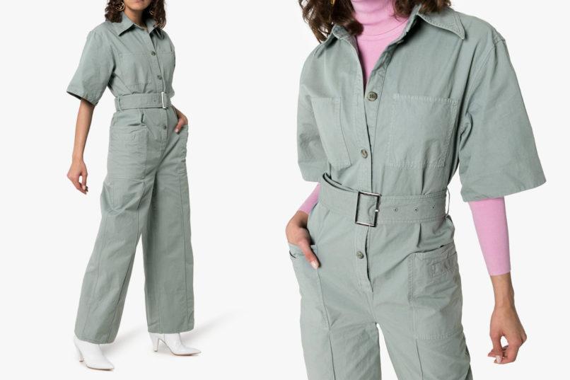 Acne Studios belted cotton utility jumpsuit