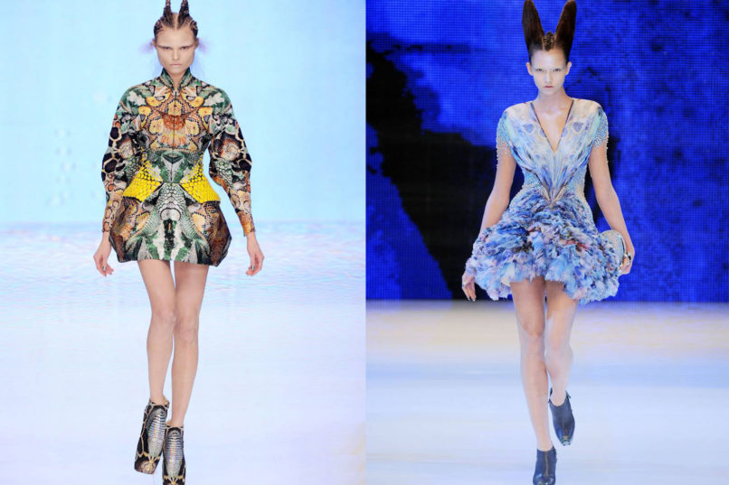Dress looks from Alexander McQueen SS2010 RTW collection