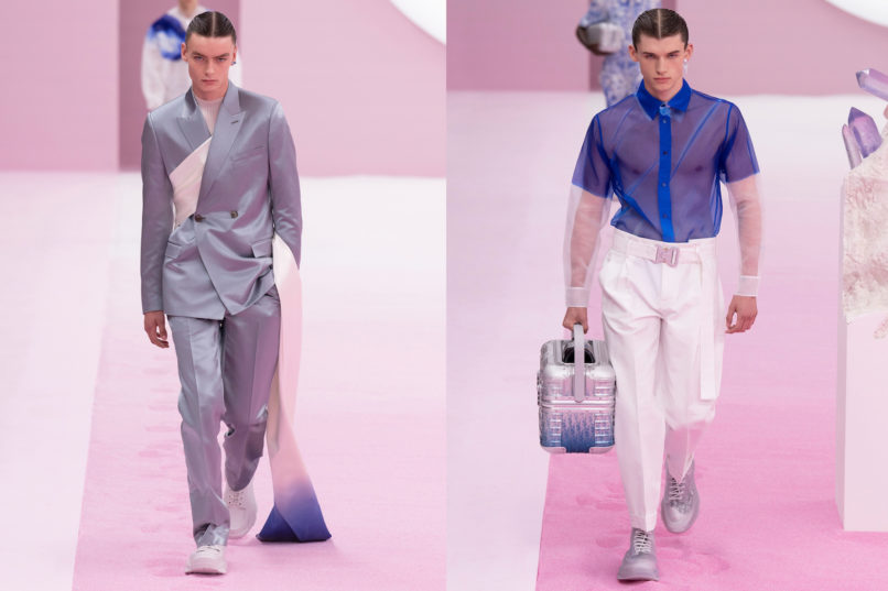 Runway looks from Dior SS2020 menswear collection