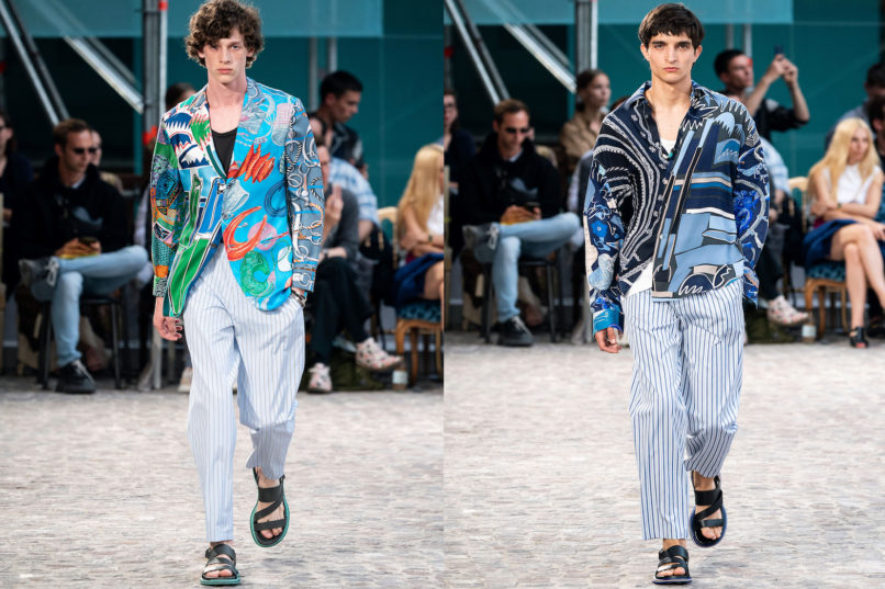 Runway looks from Hermès SS2020 menswear collection