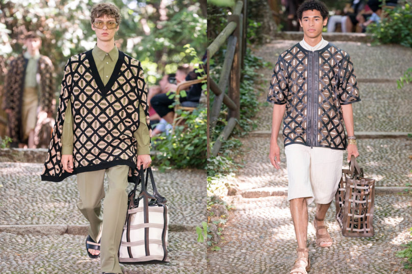 Runway looks from Fendi SS2020 menswear collection