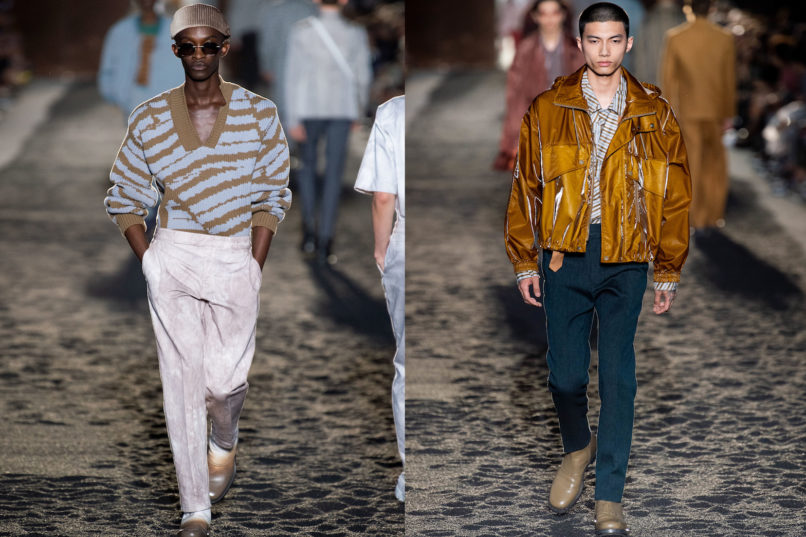 Runway looks from Ermenegildo Zegna SS2020 menswear collection