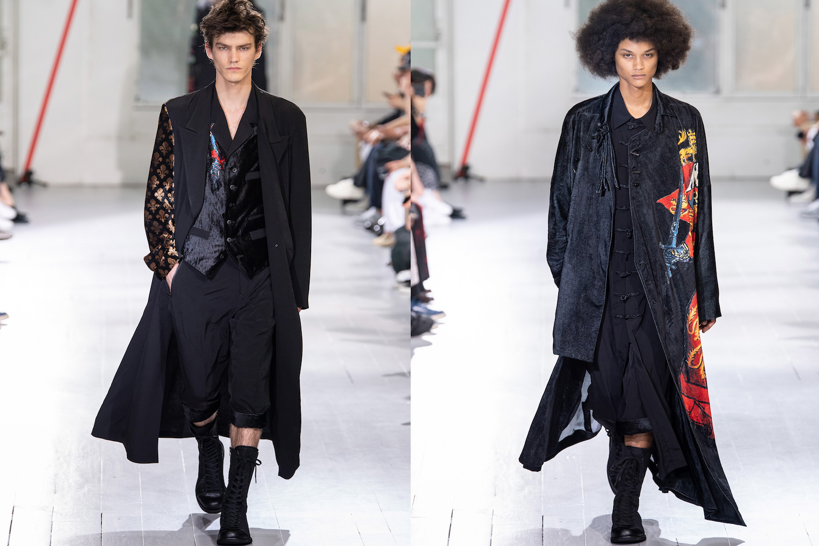 Runway looks from Yohji Yamamoto SS2020 menswear collection