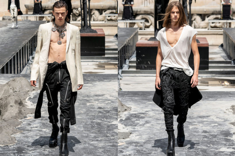 Runway looks from Rick Owens SS2020 menswear collection