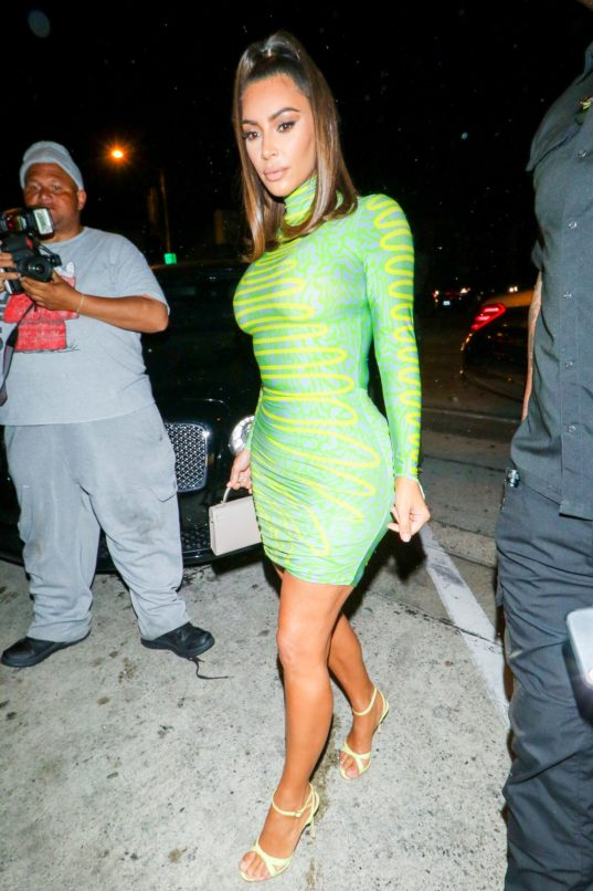 Kim Kardashian wearing Maisie Wilen SS20 / Getty Images