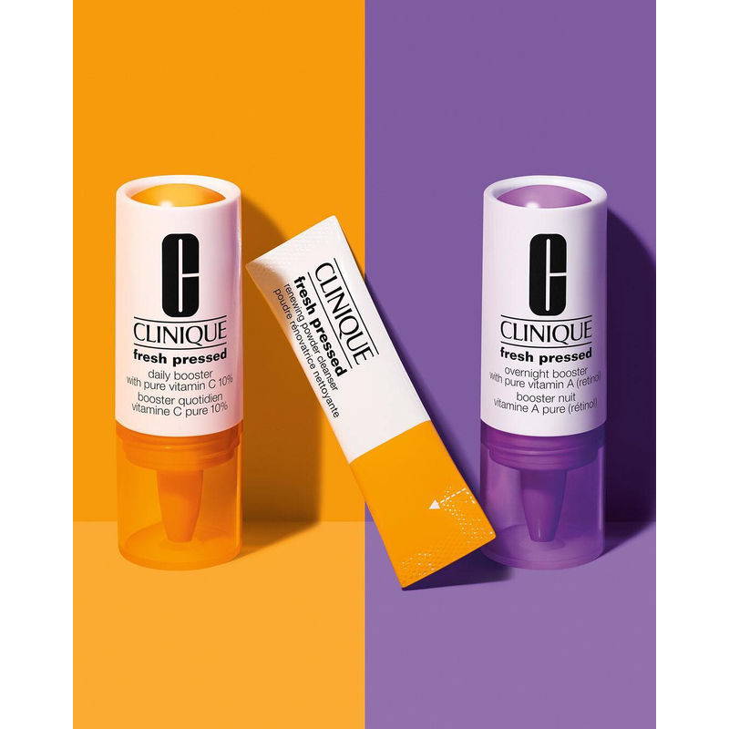 Clinique Fresh Pressed Clinical™ Daily + Overnight Boosters with Pure Vitamins C 10% + A (Retinol)