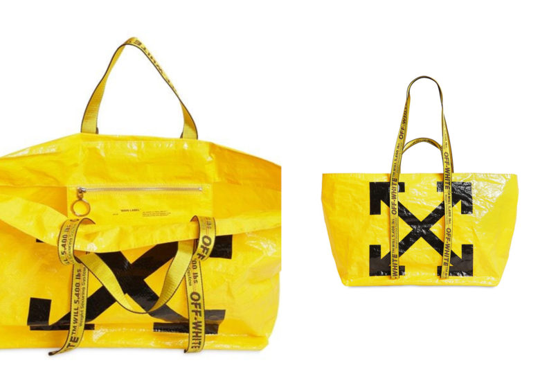Off-white printed tote bag