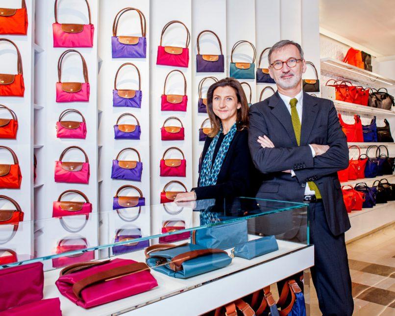 Jean Cassegrain, CEO, Sophie Delafontaine, Art Director, Longchamp, photographed in Paris. Image: Courtesy Getty