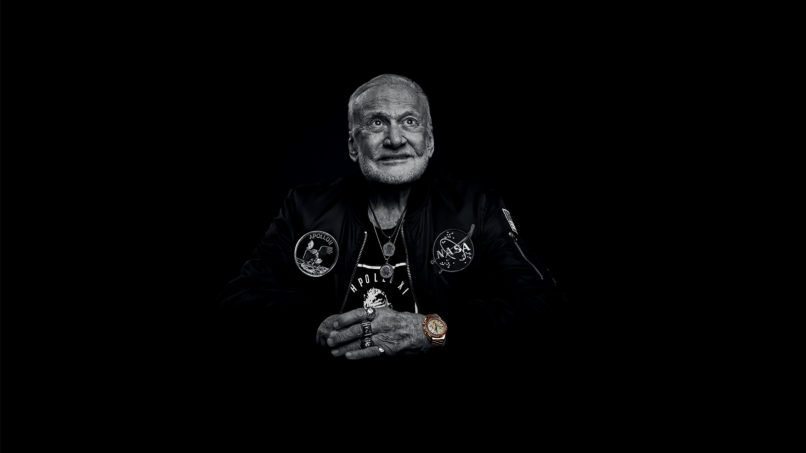 buzz-aldrin-wears-omega-speedmaster-moonwatch-50th-anniversary-limited-edition