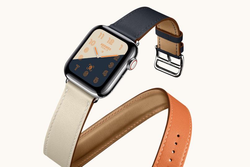 Hermès double tour Apple watch band