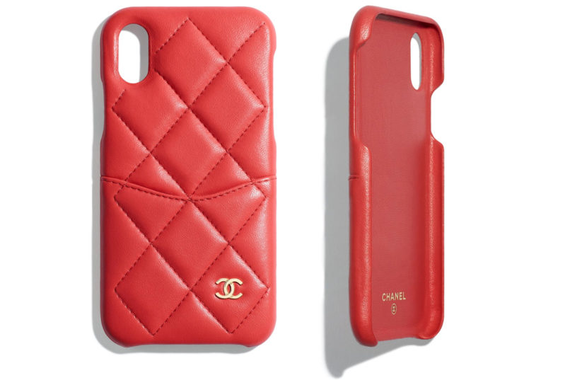 Chanel quilted lambskin iphone case