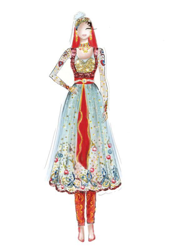 Mughal-e-azam.Madhubala. Illustration: courtesy Aparna Ram