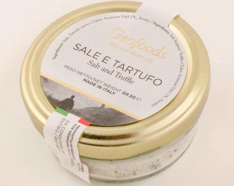 truffle products: salt and truffle