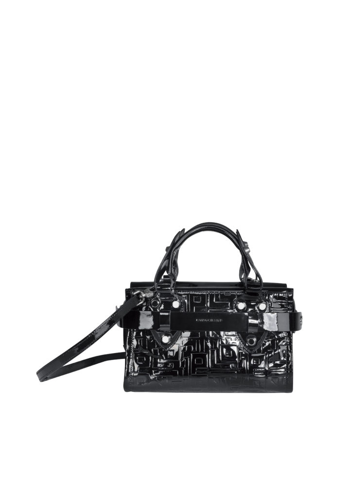 La Voyageuse LGP Verni top handle bag black SGD$1500