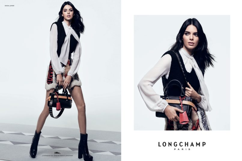 Longchamp FW 2019 campaign featuring Kendall Jenner