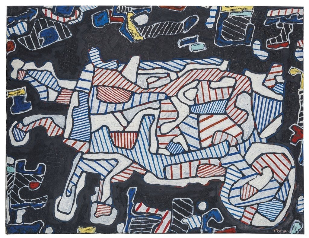 Painting from Dubuffet, photo courtesy of Christie's