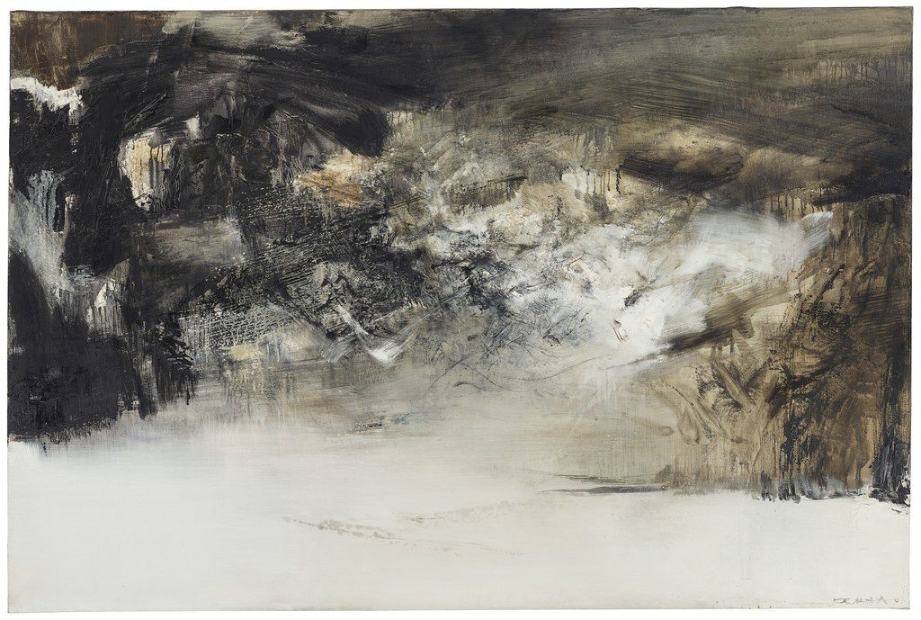 Zao Wouki's painting, photo courtesy of Christie's