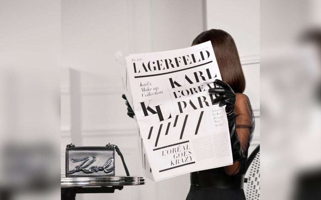 Here's a sneak peek at the Karl Lagerfeld x L'Oréal Paris