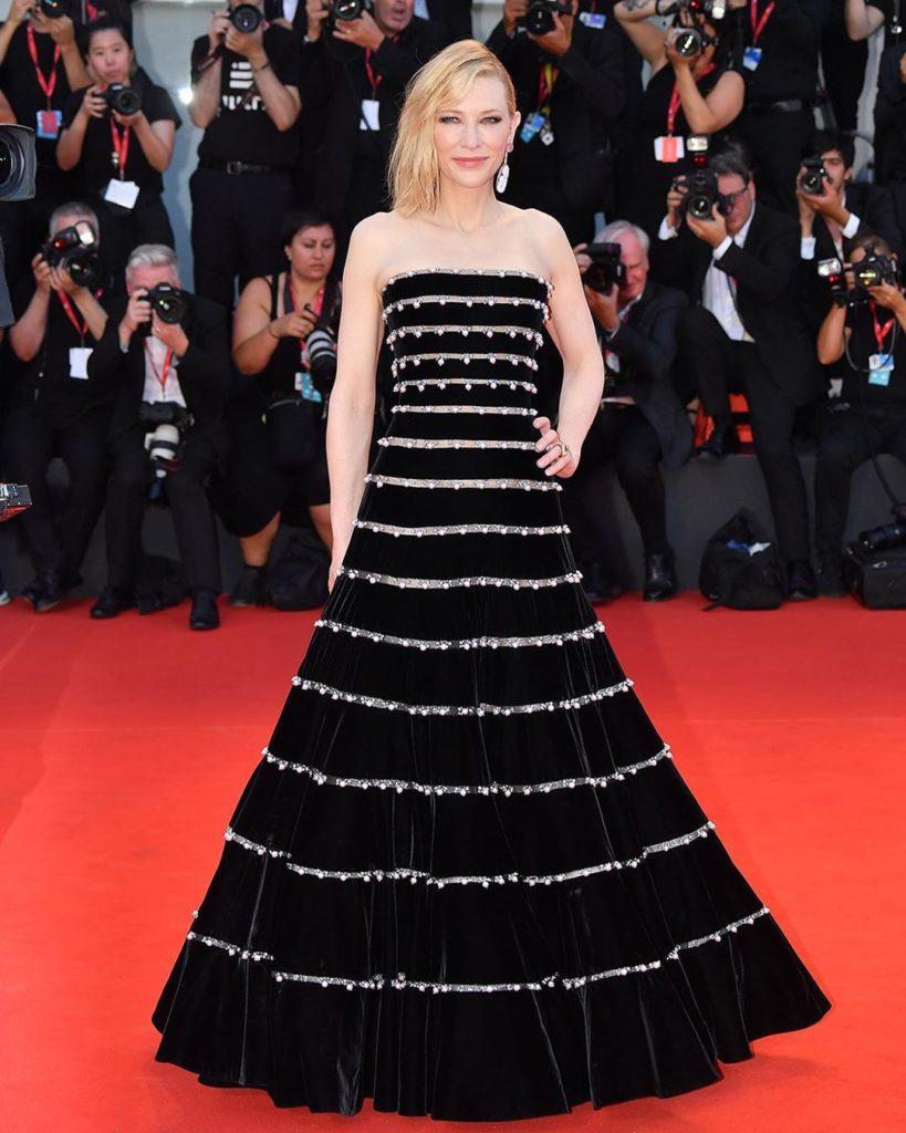 Cate Blanchett in Armani. Image: Courtesy Instagram