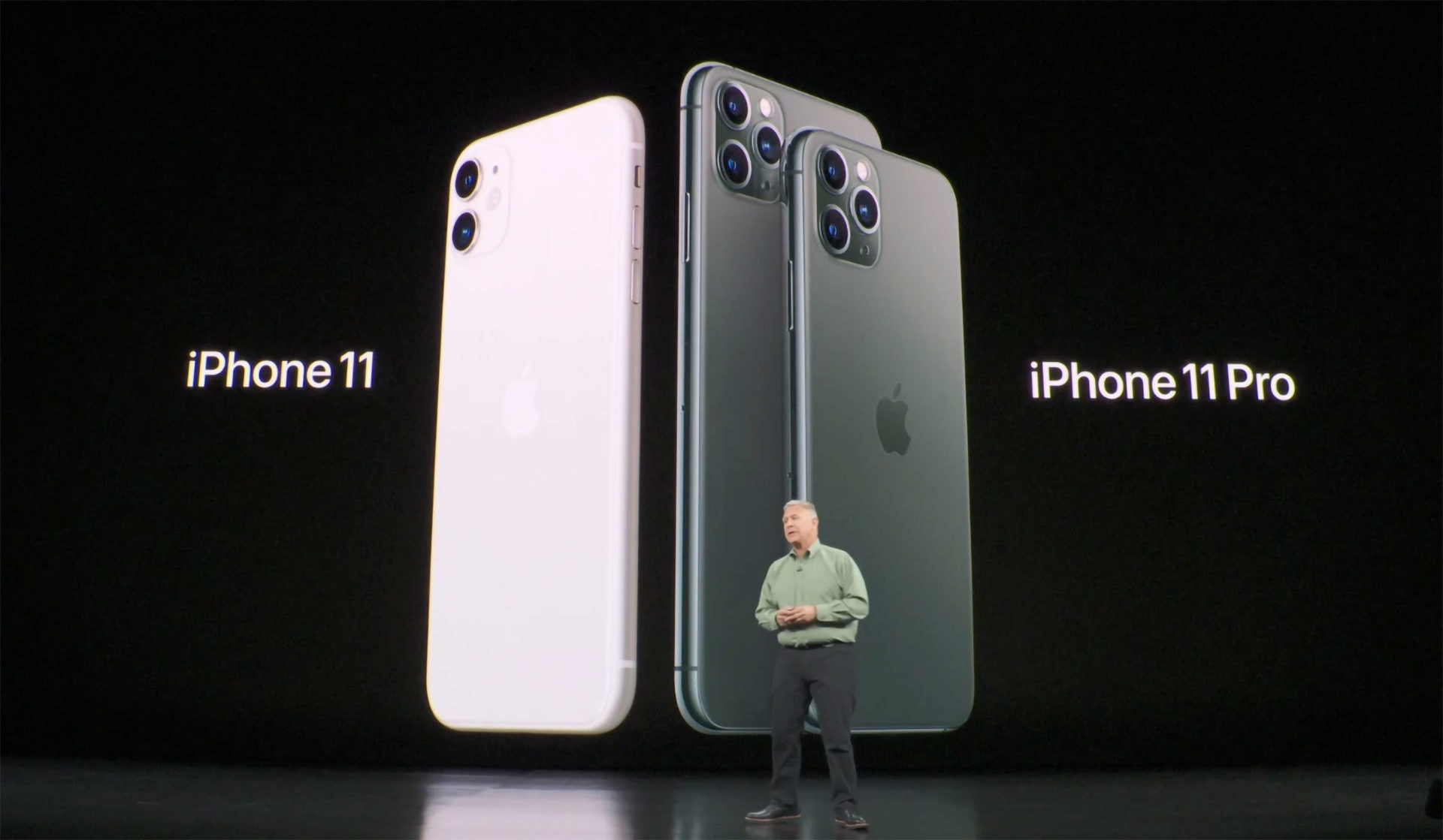 Phil Schiller presenting the iPhone 11 and iPhone 11 Pro at the Apple September 10 Keynote