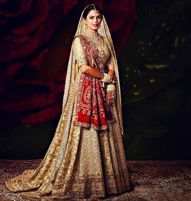 Isha Ambani Piramal in Abu Jani Sandeep Khosla. Image: Courtesy Instagram